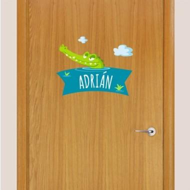 El cocodril afamat - Nom per a portes