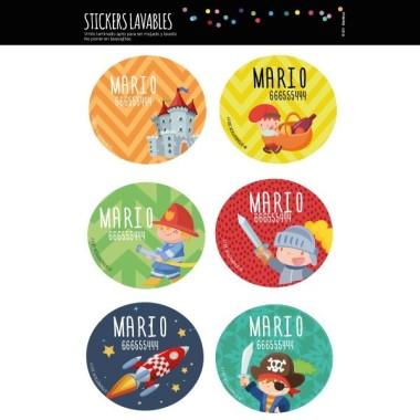 Modèle 3 - Étiquettes personnalisées rondes - Grand