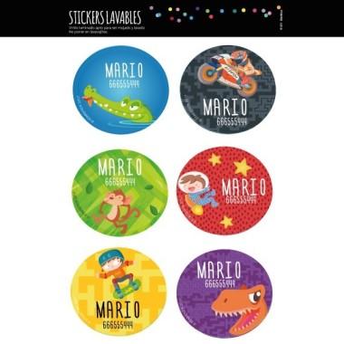 Modèle 4 - Étiquettes personnalisées rondes - Grand