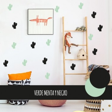 Mini cactus - Vinilo decorativo de pared