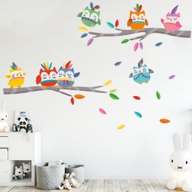 Mussols tribals - Vinil infantil decoratiu