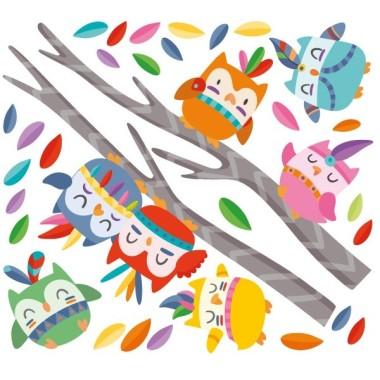 Hiboux tribaux - Sticker muraux Stickers muraux pour filles Dimensions approximatives (largeur x hauteur) Petit: 110x65 cm Moyen: 150x80 cm Grand: 200x100 cm Géant: 250x125 cm   AJOUTER UN PRÉNOM À PARTIR DE 9,95 €   vinilos infantiles y bebé Starstick