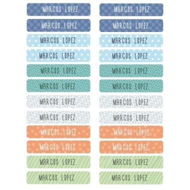 Modèle 2 - Étiquettes rectangulaires Vêtements - Petit