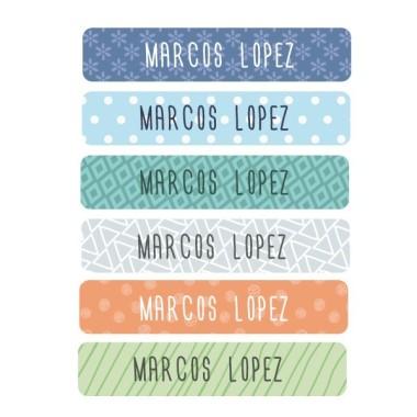 Etiquetas ropa rectangulares - moyen
