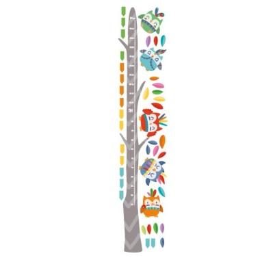 Hiboux  tribal - Sticker toise Toises Les Tailles Taille de la feuille: 30x135 cm Taille du montage: 65x135 cm Taille approximative des hiboux: 15x15 cm Comprend 16 étiquettes pour marquer ce que vous voulez! vinilos infantiles y bebé Starstick