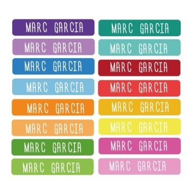 Modèle Confettis - Étiquettes personnalisées rectangulaires - Mini