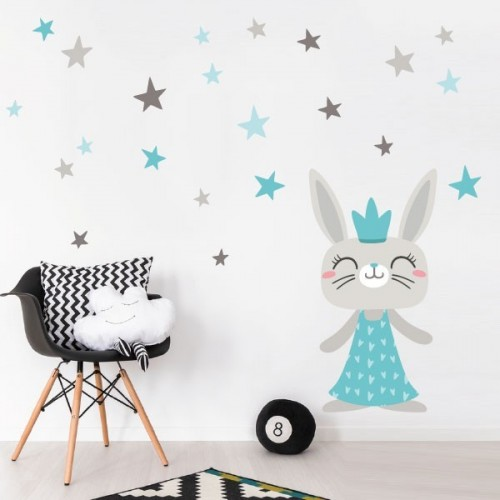 Petit lapin style nordique -  Stickers Scandinave
