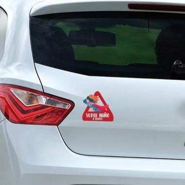 """Super fill à bord - Adhésif pour voiture Stickers bébé à bord Adhésif pour voiture """"Super fill à bord"""" Dimensions: 16x15 cm Matériau:Sticker autocollantpelliculage vinilos infantiles y bebé Starstick"""