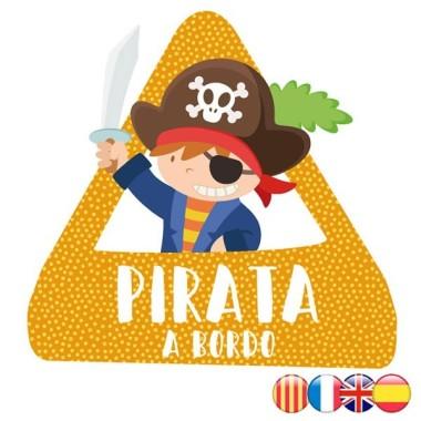 Pirata a bord - Adhesiu per a cotxe