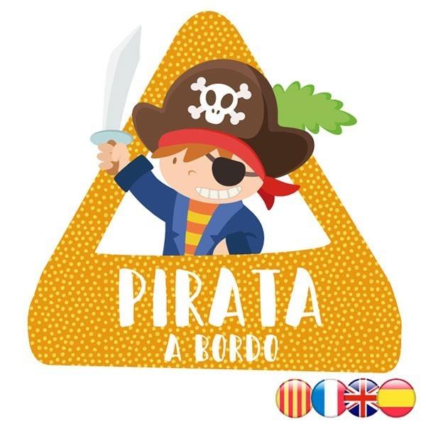 triángulo adhesivo de Bebé a Bordo Pirata a bordo–  Adhesivo para coche