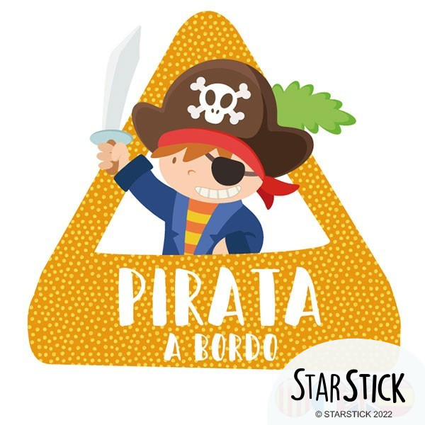 Pirate à bord - Adhésif pour voiture