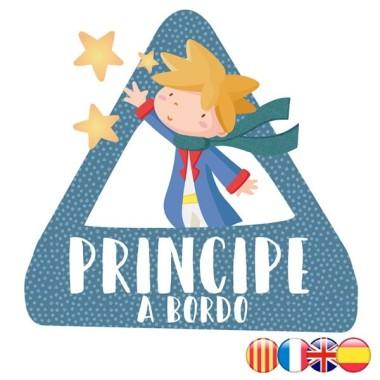 Príncipe a bordo –  Triángulo adhesivo Bebé a Bordo