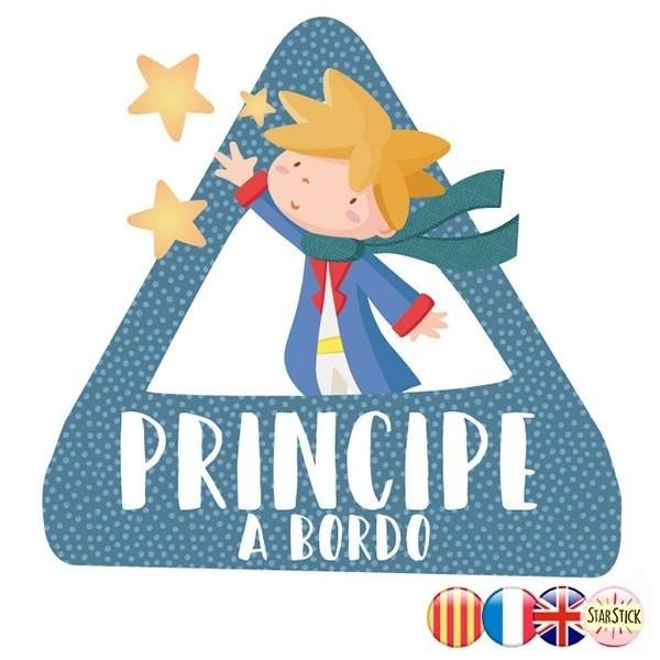dreieck-aufkleber - Baby an Bord Prinz an bord – Aufkleber für auto