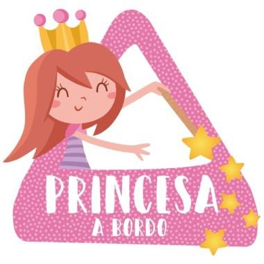 """Princesse à bord - Adhésif pour voiture Stickers bébé à bord Adhésif pour voiture """"Princesse à bord"""" Dimensions: 16x15 cm Matériau:Sticker autocollantpelliculage vinilos infantiles y bebé Starstick"""
