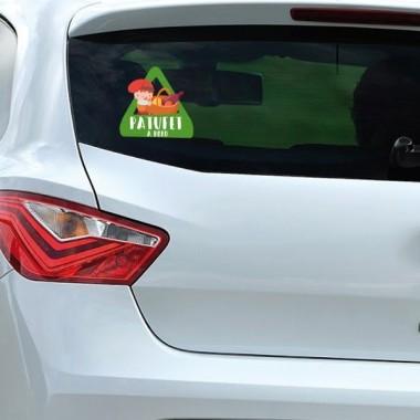 """Patufet à bord - Adhésif pour voiture Stickers bébé à bord Adhésif pour voiture """"Patufet à bord"""" Dimensions: 16x15 cm Matériau:Sticker autocollantpelliculage vinilos infantiles y bebé Starstick"""