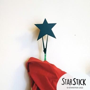 Perchero infantil - Estrella de madera