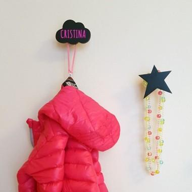 Penjador infantil - Estrella de fusta