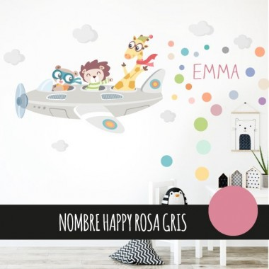 Vinil nadó Avions animals - wall decals nen