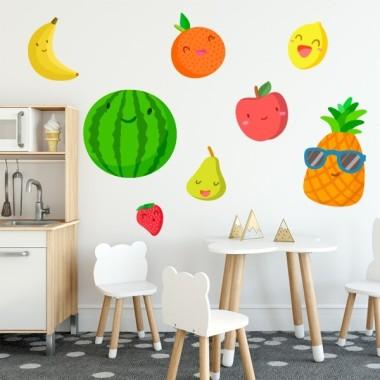 Fruits - Sticker pour enfant Vinyle éducatif / écoles Dimensions approximatives (largeur x hauteur) Petit: 90x50 cm Moyen: 140x60 cm Grand: 200x90 cm Géant: 270x115 cm vinilos infantiles y bebé Starstick