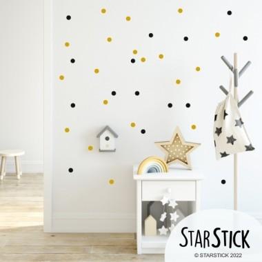 Mini confetti. 2 Couleur à choisir - Sticker muraux Stickers enfants Les Tailles 65 dots de 3 cm de diamètre chacune  vinilos infantiles y bebé Starstick
