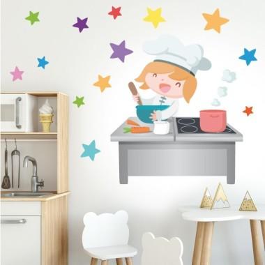 Divertida cuinera - Vinil decoratiu infantil