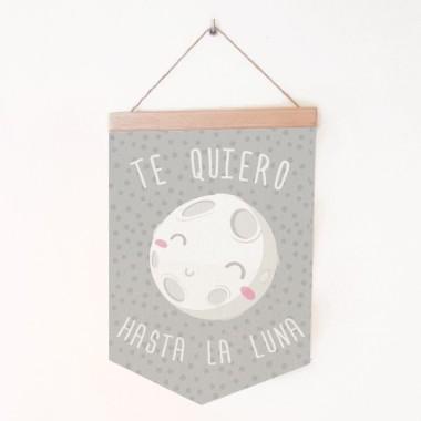 Bannières pour enfants - I love you to the moon Bannières Dimensions (largeur x hauteur) Moyen:19,5x29 cm Grand:24x35 cm   vinilos infantiles y bebé Starstick