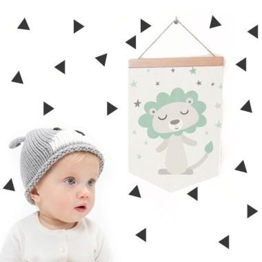Banderola Bebé - León estilo nórdico