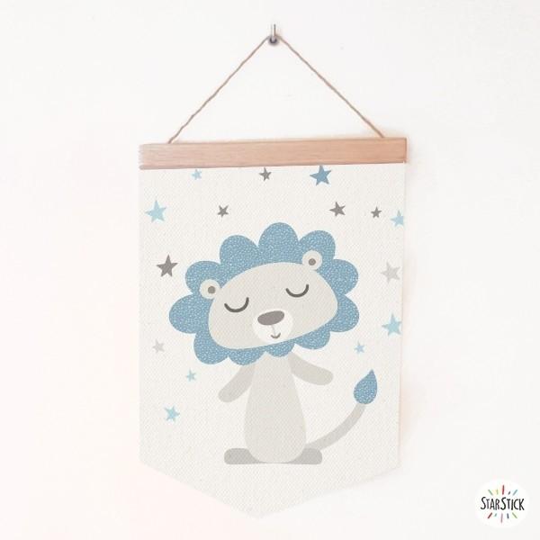 Bannières pour enfants - Lion style nordique Bannières Dimensions (largeur x hauteur) Moyen:19,5x29 cm Grand:24x35 cm   vinilos infantiles y bebé Starstick