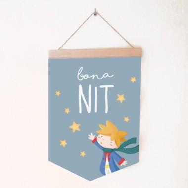 Bannières de bébé - Sweet dreams little prince Bannières Dimensions (largeur x hauteur) Moyen:19,5x29 cm Grand:24x35 cm   vinilos infantiles y bebé Starstick