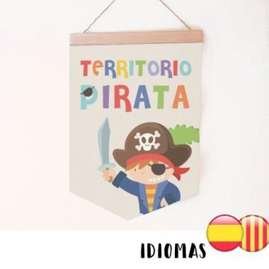 Banderolas infantiles - Territorio Pirata