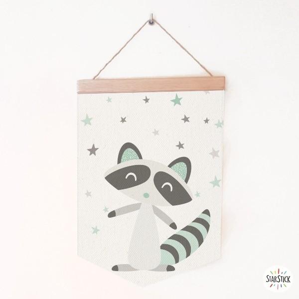 Raccoon style nordique - Bannières pour enfants