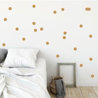 Vinilo topos - Confeti dorado