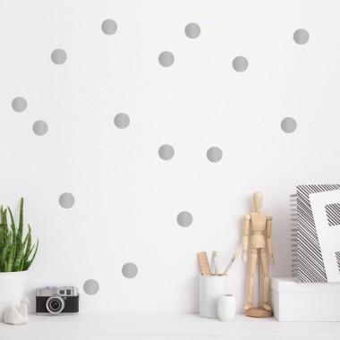 Confetti Argent - Sticker muraux
