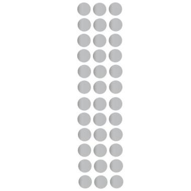 Confeti Platejat - Vinil decoratiu Vinils triangles y confetis Vinil de paret amb topos de confeti color plata. Cada confeti és independent i es pot enganxar amb la forma i distribució que més s'adapti a cada paret.Mesures del vinil30 rodonesMida de cada rodona: 4,5 cm de diàmetre cadascuna AFEGEIX UN NOM AL VINIL DES DE 9,99 € vinilos infantiles y bebé Starstick