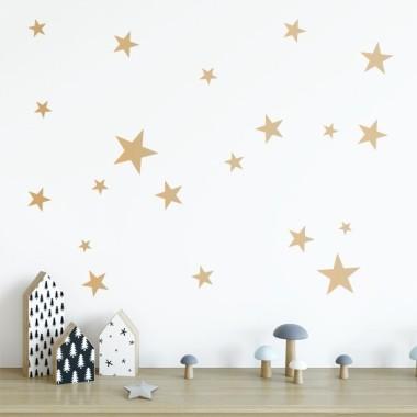 50 Estrellas Doradas - Vinilo estrellas decorativas