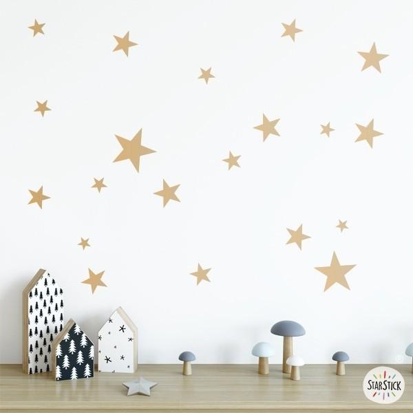 50 Estrelles Daurades - Vinil estrelles decoratives