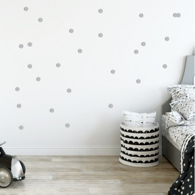 Sticker dots - Mini confettis argent