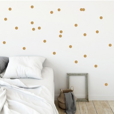 Vinilo topos - Mini confeti de color dorado