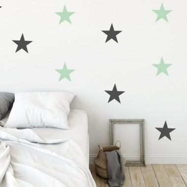 Sticker étoiles Big - Stickers muraux Sticker étoiles Option 1: 8 étoiles Taille des étoiles: 15 cm large   Option 2: 12 étoiles Taille des étoiles: 15 cm large       vinilos infantiles y bebé Starstick