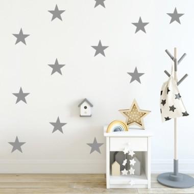 Vinilo estrellas big - Vinilos de pared Vinilos de estrellas y confetis Vinilo decorativo con estrellas de grandes. Escoge color, haz combinaciones y consigue una pared totalmente personalizada a tu gusto. Empieza ya a decorar con los vinilos StarStick.  Medidas del vinilo Opción 1: 8 estrellas Tamaño de cada estrella: 15 cm de ancho   vinilos infantiles y bebé Starstick
