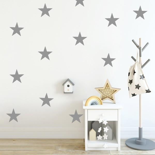 Sticker étoiles Big - Stickers muraux Sticker étoiles et dots Option 1: 8 étoiles Taille des étoiles: 15 cm large   vinilos infantiles y bebé Starstick