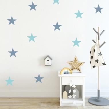 Vinil estrelles big - Vinils de paret Vinils d'estrelles i confetis Vinil decoratiu amb estrelles grans. Escull color, fes combinacions i aconsegueix una paret totalment personalitzada al teu gust. Comença ja a decorar amb els vinils StarStick.Mesures del vinilOpció 1: 8 estrellesMida de cada estrella: 15 cm d'ample vinilos infantiles y bebé Starstick