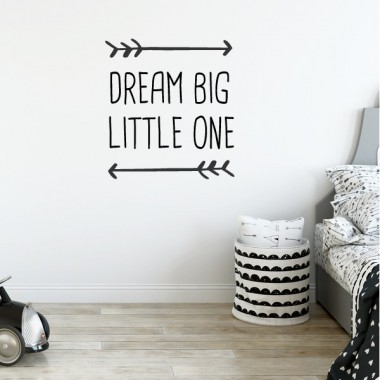 Vinilos bebé  de frases  - Dream big little one