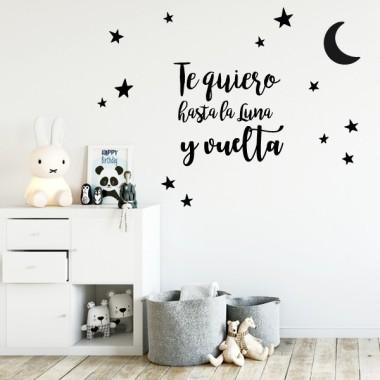 Vinils nadó amb textos - T'estimo fins a la lluna i tornada