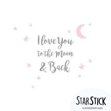 Vinilos bebé con textos - Te quiero hasta la luna y vuelta