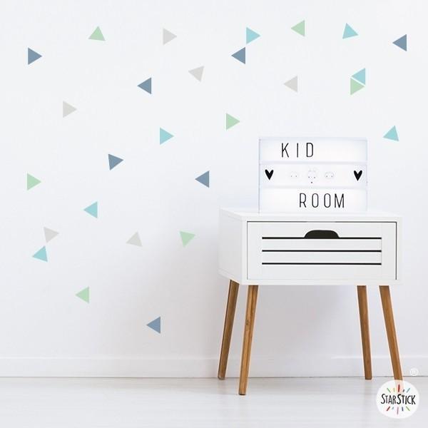 Sticker bébé  - Triangle nordique couleur mint
