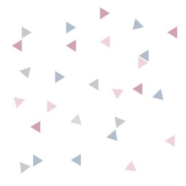 Triangle nordique combinaison rose - Sticker bébé Stickers triangle et dots Les Tailles Taille de la feuille: 60x12 cm 1 triangle: 3,5x4 cm Nombre de triangles: 50 (13 unités rose gris, 13 unités gris bleu, 12 unités gris clair i 12 unités rose clair) AJOUTER UN PRÉNOM À PARTIR DE 9,95 € vinilos infantiles y bebé Starstick