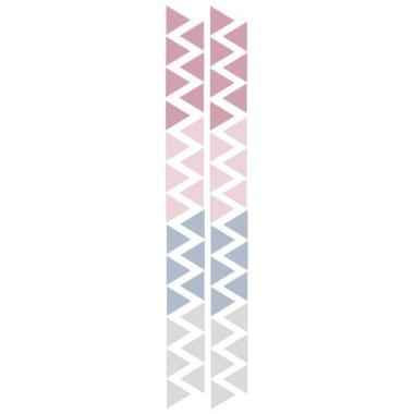 Triángulos nórdicos combinación rosa palo - Vinilos bebé Vinilos triángulos y confetis Triángulos de vinilo combinados en tonos rosa. Vinilos independientes para decorar habitaciones de bebé. Medidas del vinilo Tamaño de la lámina: 60x12 cmTamaño de cada triangulo: 3,5 x 4 cmNúmero de triángulos: 50 (13 rosa gris,13 azul gris, 12 gris claro y 12 rosa claro)      AÑADE UN NOMBRE AL VINILO DESDE 9,99€          vinilos infantiles y bebé Starstick