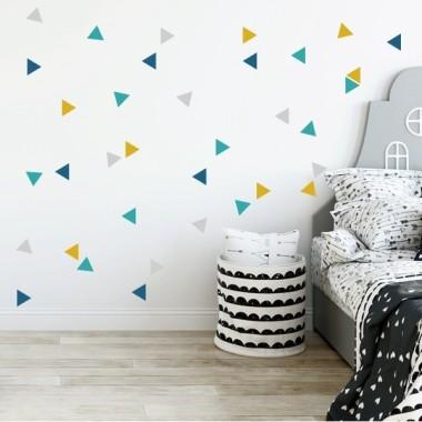Triangles nòrdics combinació mostassa - Vinils nadó