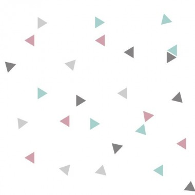 Triangle nordique rose gris- Sticker bébé